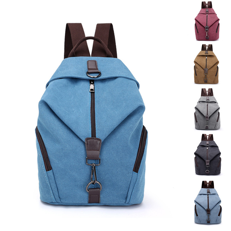 2019 Women\'S Canvas Outdoor Female Sports Backpack Large Capacity Zipper Travel Bag Backpacks School Gym Fitness Backpack