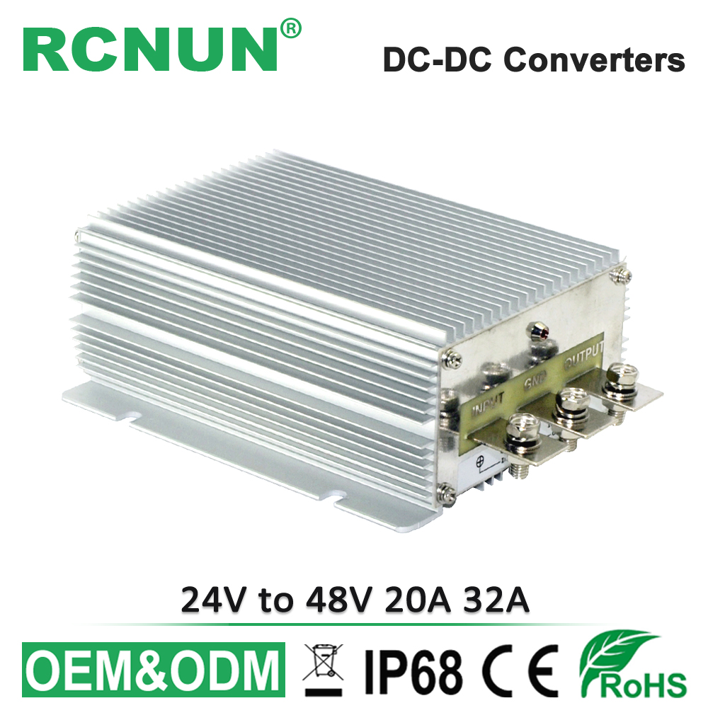 High Power 1500W 24V 48V Boost Module DC DC Converter 24V to 48V 20A 32A Step