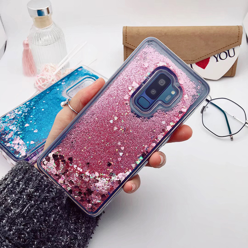 for Samsung Galaxy S9 case Back cover Bling Glitter Dynamic Quicksand Liquid Case for samsung S9 plus cover Galaxy S9 coque (17)