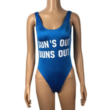 Swimwear Women bikini 2019 Solid Color Letter Bodysuits Swimsuit Backless Jumpsuit Fashion Tankinis feminino biquinis mujer #080