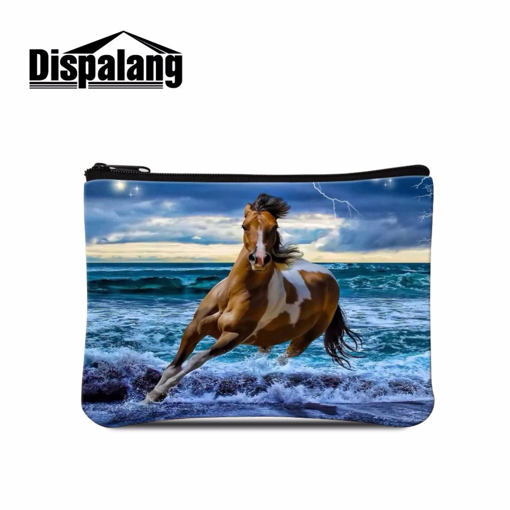 Dispalang Trendy Female Wallet Horse Print Mini Change Coin Purse Child Purse Makeup Buggy Bag Pouch Portable Money Bag Coin Bag Coin Purses & Holders Luggage & Bags