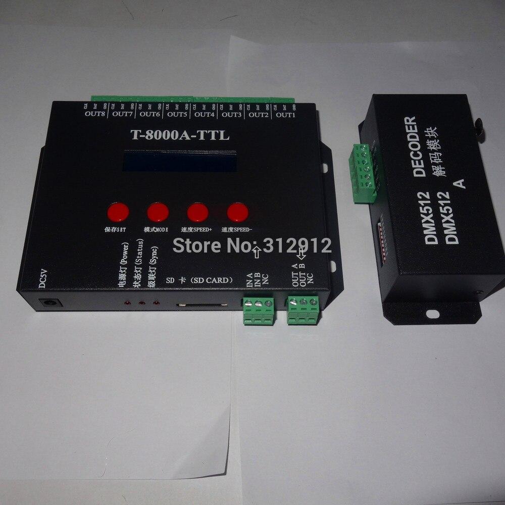 LED di Colore Completo DMX512 Controller SD card LCD Per LED Wall Washer Luci Guardrail Tubo Bar Digitale Senza Fili A Distanza Sincronizzatore - 2
