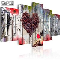 Full Square Drill Diamond Embroidery Beautiful Love Home 5D DIY Diamond Painting Cross Stitch Multi