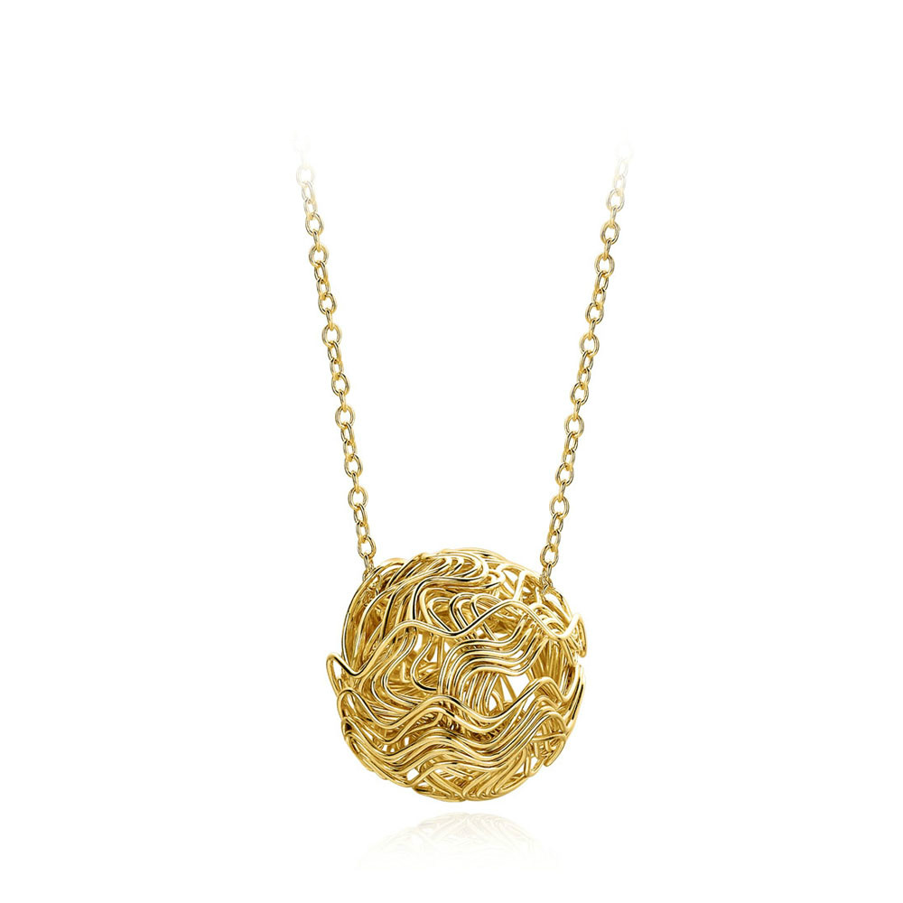 Lucky Ball Rose Gold Pated Charms Necklaces & pendants Fashion Brand Jewelry For Women Crystal Chain colares P263