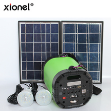 Xionel Solar Panel Outdoor Solar Power Generator Bluetooth Speaker with FM Radio Solar Lighting System