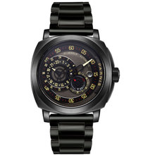 купить 44MM PARNIS 21 jewels Japanese Miyota automatic Self-Wind Mechanical watches Black dial Sapphire Crystal men's watch PVD Coated по цене 10852.07 рублей