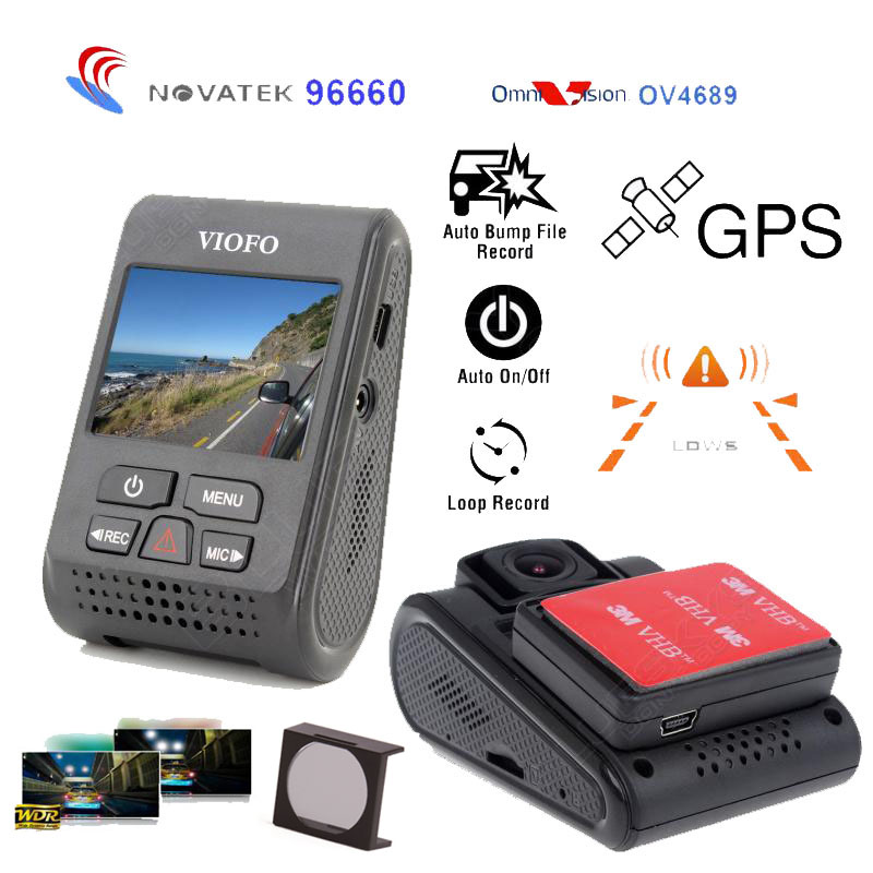 Original VIOFO A119 2.0 LCD Capacitor 2K 1440P Novatek 96660 HD  Car Dash video recorder DVR Optional GPS CPL Filter motorcycle gear shifter shift lever tip replacement for ktm sx sxf sxs exc excf excw xc xcf xcw xcfw mx smc smr mxc sixdays