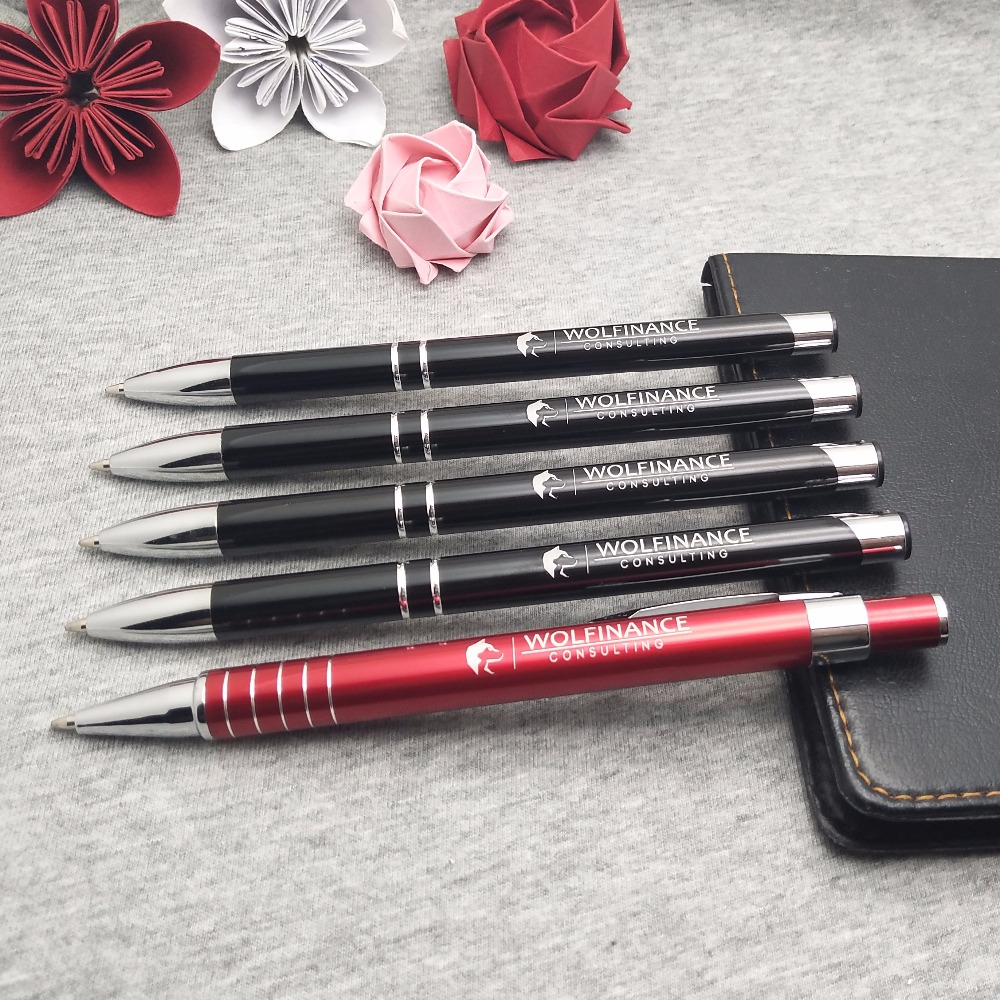 HOT metal ball point pens NEW unique corporate gifts customized FREE your logo and text BY laser marking machine 200pcs a lot