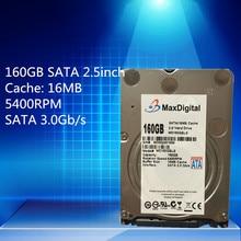 2,5 zoll HDD 160 GB 5400 Rpm 16 Mt SATA Interne Festplatte Für Laptop Notebook MaxDigital/MD160GB SATA 2,5 zoll