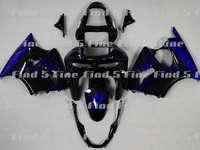 blue flame black fairings for KAWASAKI Ninja ZX-6R 98-99 ZX6R 98 99 ZX6R 1998-1999 ZX 6R 1998 1999 ABS fairing kit