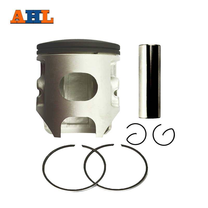 Motorcycle Engine Parts Std Cylinder Bore Size 55mm: AHL Bore Size 66.4 Mm Motorcycle Standard Piston & Piston