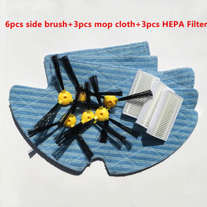 Image 1 - Vacuum Robotic Cleaner Parts for Haier SWR T320 T321 T325 vacuum cleaner parts side brush x6+ mop cloth x3+HEPA Filter x3