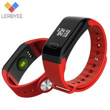 Lerbyee Fitness Tracker F1 Sleep Tracker Bluetooth Smart Bracelet Heart Rate Monitor Waterproof Smart Watch for iPhone Android(China)