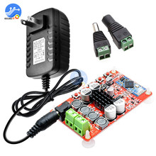 TDA7492P Bluetooth Audio Amplifier Board 50W+50W Digital Stereo HIFI Wireless Receiver with 12V 2A Adapter Male Female Connector цена 2017