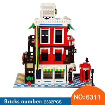 Wange New 6311 2332pcs Street View Series Corner Store education DIY Building Blocks Bricks assembly Toys For Children