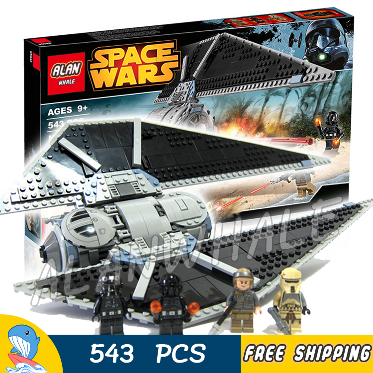 543pcs Space Wars Universe New TIE Striker Fighter Spaceship 05048 Model Building Blocks Children Toy Brick Compatible with Lego new lepin 05048 star classic model wars 543pcs the tie striker building blocks bricks toys compatible with 75154 children gift