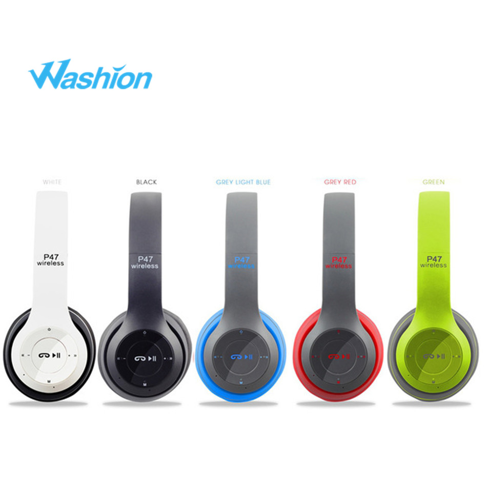 Foldable Bluetooth Headphones Wireless Stereo Head phone Portable Headset With Microphone Noise Cancelling For Pc Computer Phone
