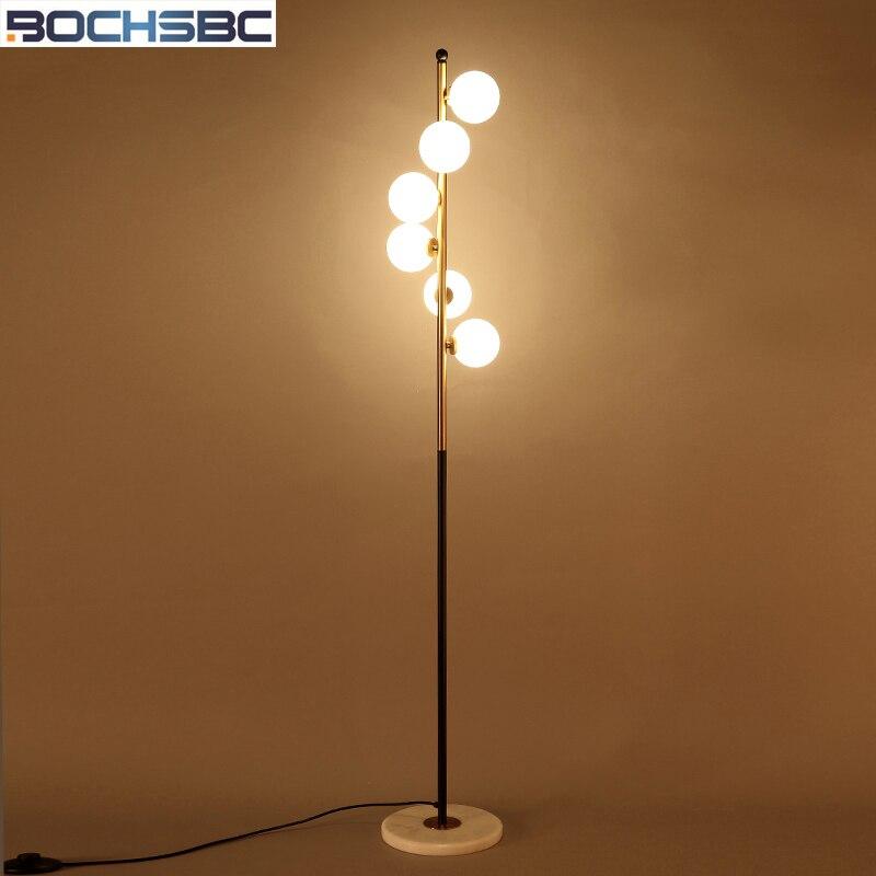 BOCHSBC Glass Balls Floor Lamp Lights for Living Room Bedroom Indoor Lighting Art Deco Spiral Glass Balls LED Lamp Floor Light цена