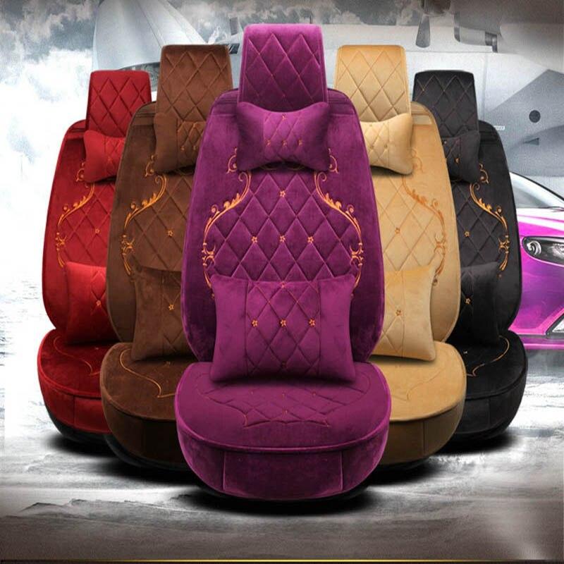 Geeaok Car Seat Covers Faux Fur Car Seat Cushion For