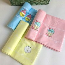 Cartoon twill cotton cloth 2 35 meters wide baby infant bedding knitted fabric bag mail