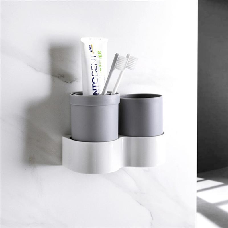 Image 3 - 1 Pc Non Toxic Toothbrush Holder Plastic Cup Holder Organizer Toothpaste Holder For Home Bathroom Countertop Storage Accessories-in Toothbrush & Toothpaste Holders from Home & Garden