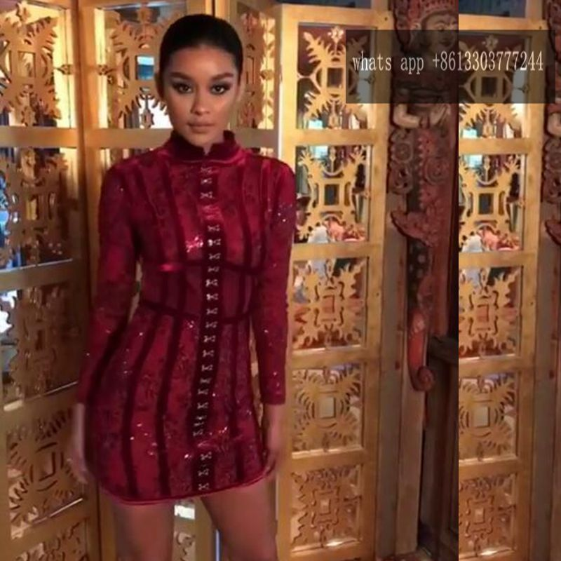 Buy Cheap Babatique 2017 sexy women dresses vestidos wine red bandage dresses bodycon luxcury short bodycon dress cocktail party dresses