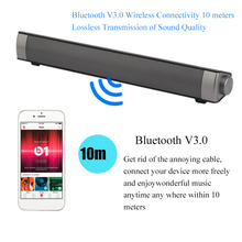 Portable TV House Theater Movie Soundbar Bluetooth Stereo Sound Bar Upgraded Speaker Amplifier Hands-Free With Mic Drop Shipping