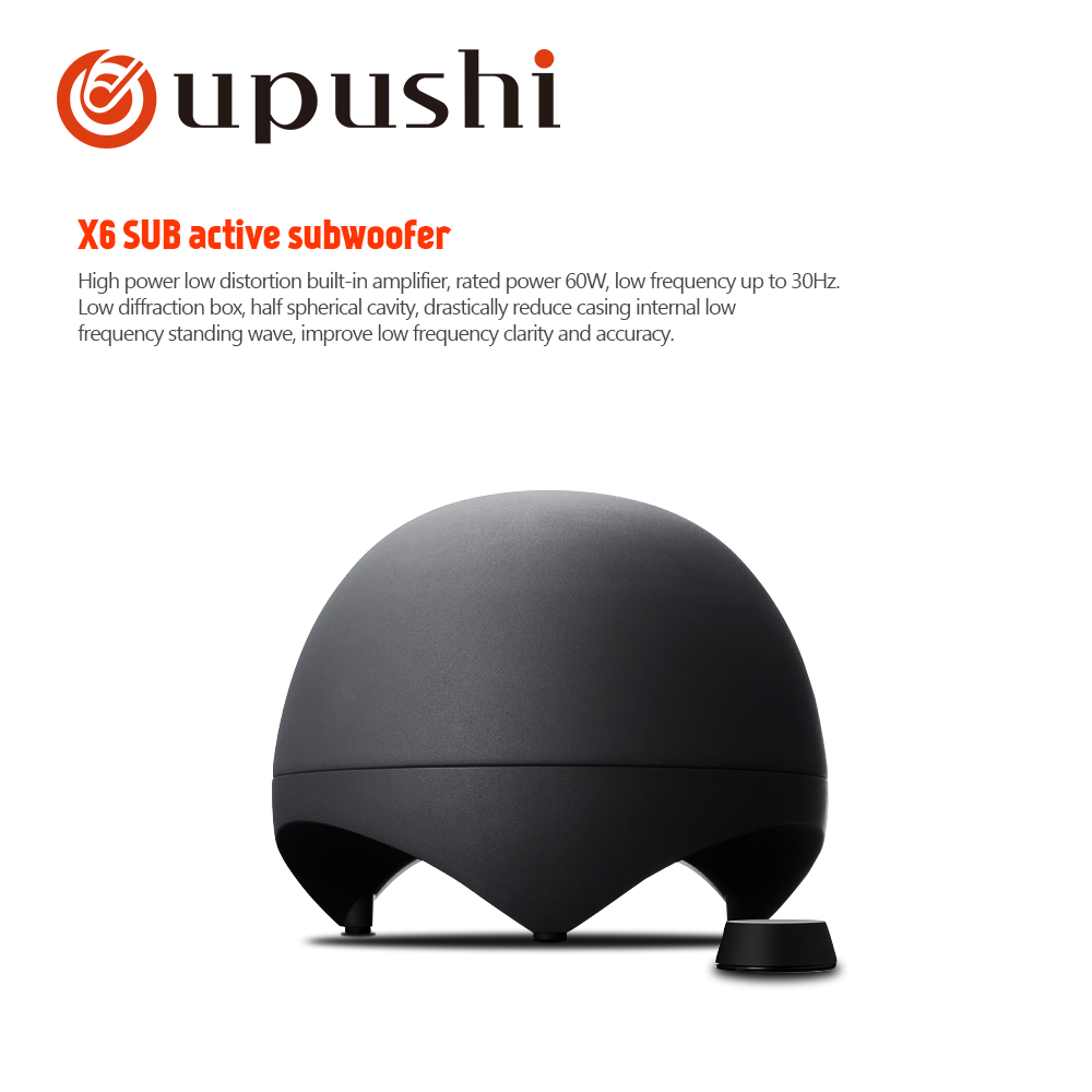 Beschallungsanlage/installation Klang VertrauenswüRdig Oupushi X6-sub Aktiven Subwoofer Multimedia Lautsprecher Eingebaute Verstärker ZuverläSsige Leistung