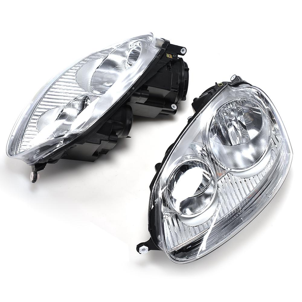 LHD ABS Car Head Lamp Auto Car Front Lights For VW Golf MK5 Standard Bumper LHD 2006-2009 hot sale abs chromed front behind fog lamp cover 2pcs set car accessories for volkswagen vw tiguan 2010 2011 2012 2013