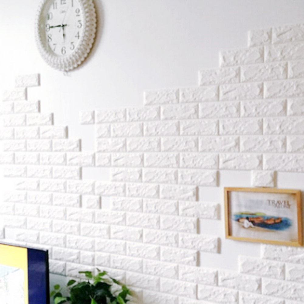 10pcs brick pattern 3d foam self adhesive wall stickers panels board decal background wallpaper Home decoration wallpaper download