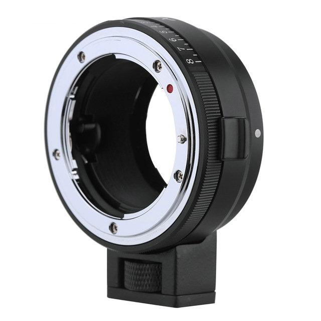 Adaptateur de monture d'objectif NF-NEX avec cadran d'ouverture pour Nikon DX \ G \ F \ AI \ S \ D objectif de Type à utiliser pour appareil photo Sony e-mount Nex