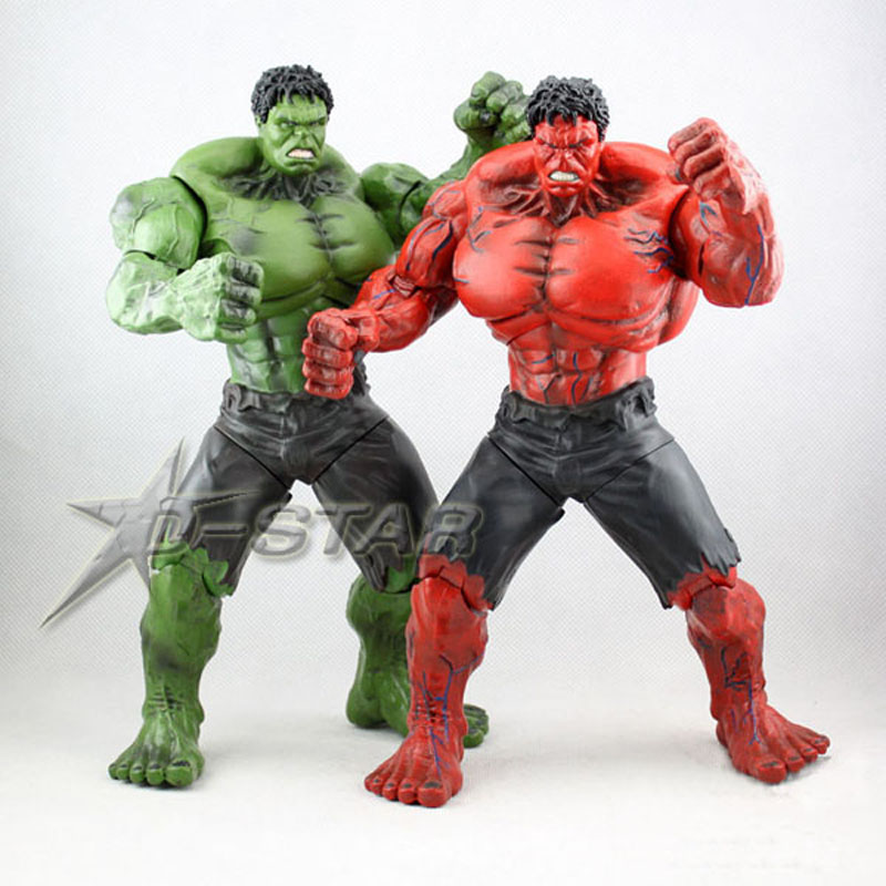 Free Shipping 10 The Avengers Super Hero Hulk Bag Packed 26cm PVC Action Figure Collection Model Doll Toys Gift 2 Color movie super hero the hulk pvc action figure toy 25cm red hulk green hulk figures toys free shipping
