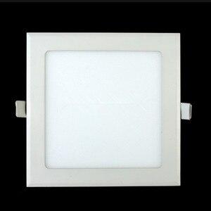 Image 2 - 20 pcs/lot Dimmable Ultra mince 3 W/4 W/6 W/9 W/12 W/15 W/25 W LED plafond encastré grille Downlight/mince panneau carré