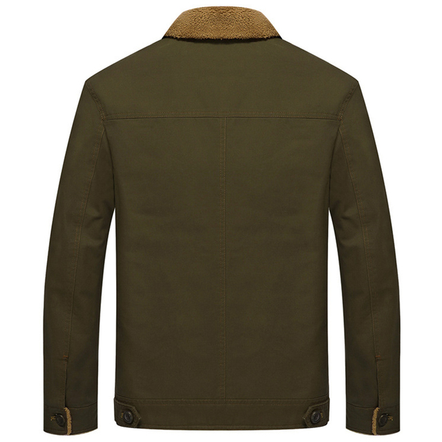 Mountainskin Thicken Fleece Winter  Men's Coats 5XL Cotton Fur Collar Jackets Military Casual Cotton large size plus cashmere