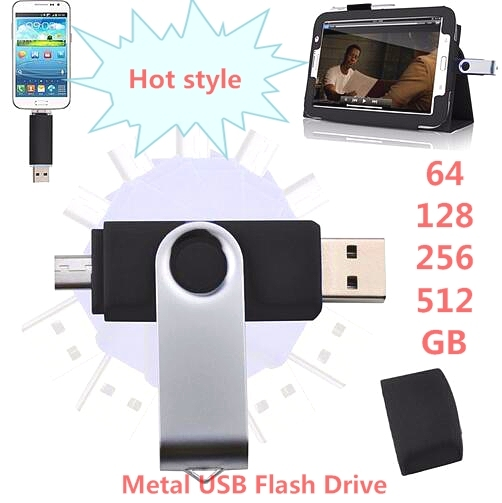 Hot New Real capacity Smart phone swivel OTG USB3.0 Flash Drive Micro USB Flash Drive 32GB 64GB 128GB 256GB 512GB U Disk gift!!