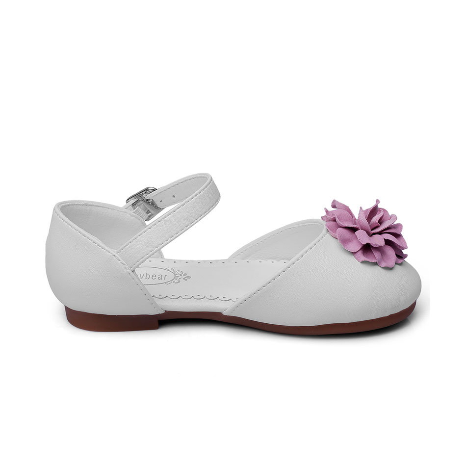 MSMAX Children Soft Leather Shoes Flower Breathable Mary Janes Girls Dress  Party Wedding Shoe Kids School Single Shoes-in Leather Shoes from Mother    Kids ... 49df5f5c627f