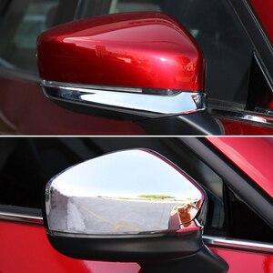 Image 4 - Dla Mazda CX 5 CX5 KF 2017 2018 2019 Chrome przednie tylne światło przeciwmgielne Taillight boczne lustro listwa przykrywająca dekoracji samochodu stylizacji