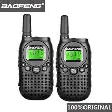 BAOFENG Radio bidireccional para niños Walkie Talkie T6 Mini Woki Toki, estación de Radio aficionado, 2ps, 2018, licencia gratis, PMR 446