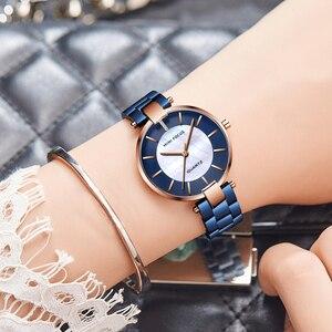 Image 3 - MINI FOCUS zegarki damskie zegarek kwarcowy Lady Dress zegarki damskie marki Luxury Fashion zegarki damskie Relogio Feminino