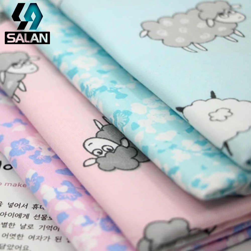 Милые овечки печати постельное белье ткани хлопок саржа пастырской цветочные шторы ткани ручной работы
