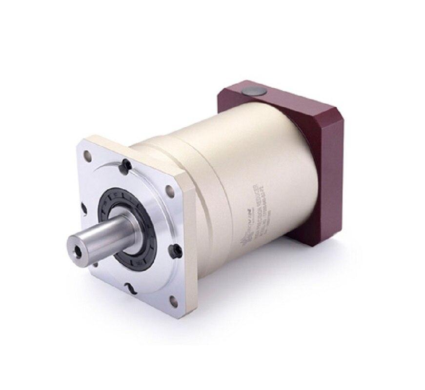 120 Doppio brace Spur gear riduttore epicicloidale cambio 12 arcmin 15:1-100:1 per 1.5kw 2kw AC servo motore di ingresso albero 19mm