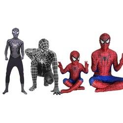 Clássico adulto crianças spiderman trajes halloween party veneno homem aranha cosplay macacões trajes