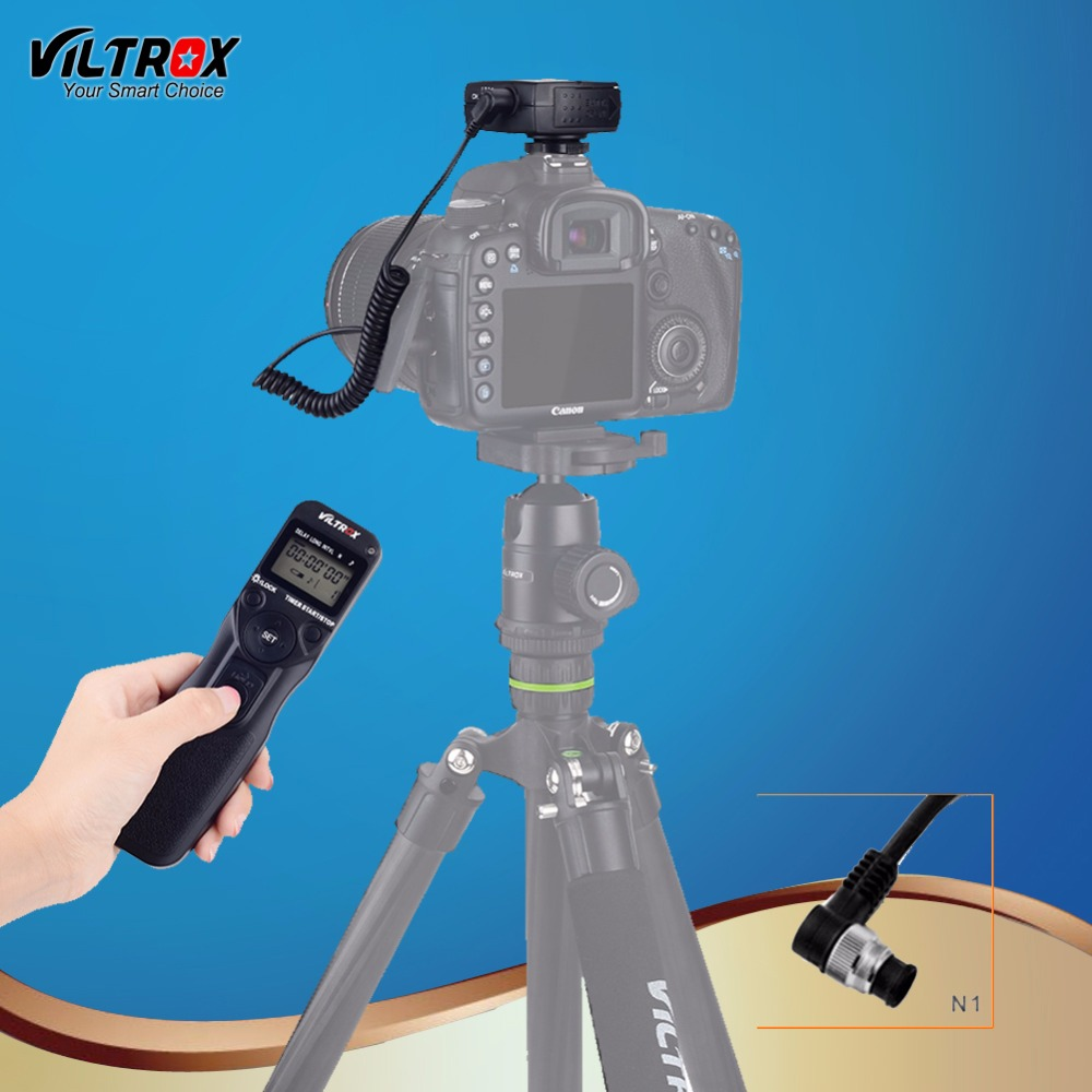 Viltrox JY-710 N1 Camera Wireless Timer Remote Control Shutter Release Control LCD Display for Nikon D850 D5 D500 D810A D3S DSLR