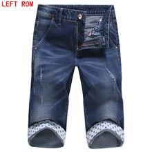 Mens Summer Stretch Lightweight Blue Denim Jeans Short for Men Jean Shorts Pants Pants Plus Size 27 28 29 30 31 32 33 34 35 36