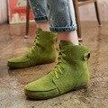 Mulheres Botas de Moda de Nova Mulheres Sólidos Ankle Boots Inverno Quente Bota Plana Confortáveis Sapatos Casuais Lace-up de Lazer Selvagem AAT48