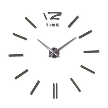 sale wall clock watch clocks 3d diy acrylic mirror stickers Living Room Quartz Needle Europe horloge free shipping 11