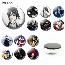 Black Butler Fridge Magnet Decor Glass Cabochon Kuroshitsuji Ciel Phantomhive Sebastian Grell Anime Manga Refrigerators Stickers