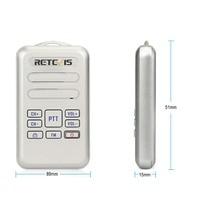 מכשיר הקשר זוג Retevis RT20 מיני מכשיר הקשר רדיו 2W UHF משדר VOX רדיו FM USB מסוג C, Charge 2 Way רדיו ללכת לדבר Comunicador (3)