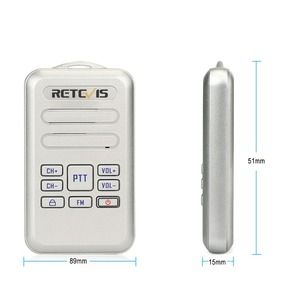 Image 5 - Retevis RT20 Mini Walkie Talkie Radio 2pcs 2W UHF Transceiver VOX FM Radio Type C USB Charge 2 Way Radio Walk Talk Comunicador