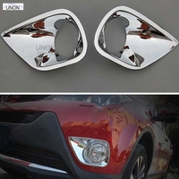 4 Pcs Set For TOYOTA RAV4 2013 2014 2015 ABS Front Rear Fog Light Lamp Cover